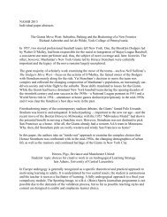 NASSH 2013 Individual paper abstracts The Giants Move West ...
