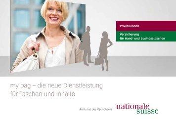 my bag Flyer - Nationale Suisse
