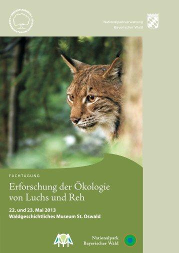 Erforschung der Ökologie von Luchs und Reh - Nationalpark ...