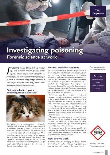 Investigating poisoning - National STEM Centre