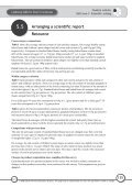 Arranging a scientific report Briefing sheet - National STEM Centre - Page 7