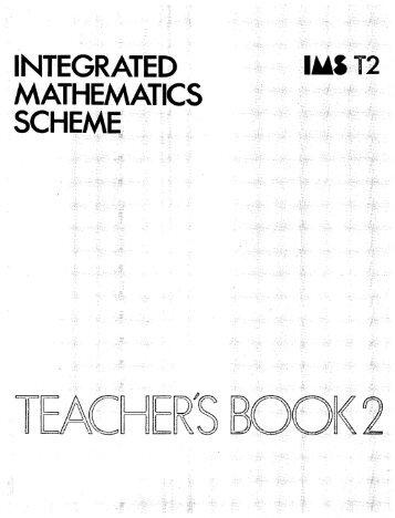 Integrated mathematics scheme: IMS T2 - National STEM Centre