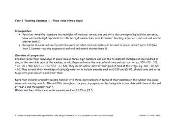 Year 3 - Autumn teaching sequences - National STEM Centre