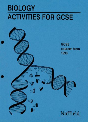biology activities for gcse - National STEM Centre