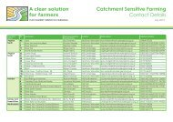 Catchment Sensitive Farming Contact Details - Natural England