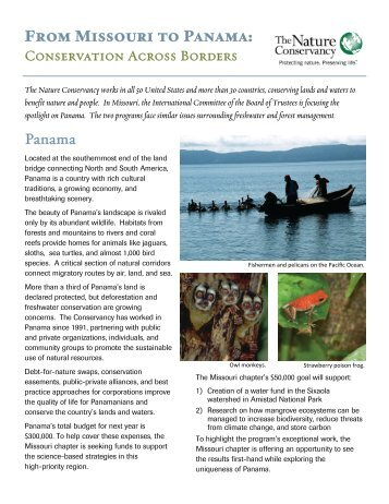 From Missouri to Panama: - The Nature Conservancy