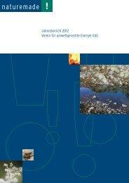 Jahresbericht 2012 Verein für umweltgerechte ... - Naturemade