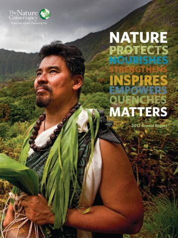 2012 Annual Report - The Nature Conservancy