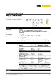 Technisches Merkblatt StoLevell In Mineral - natureplus