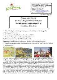 Reiseablauf Polen 2013 - Naturfreunde