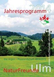 Jahresprogramm 2014 - NaturFreunde Ortsgruppe Ulm