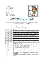 Wanderprogramm 2013 - Naturfreunde