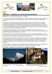 Bhutan 2013 Detailprogramm - Naturfreunde