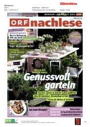 ORF-Nachlese 4/2013 1/14 Artikelfläche 752625 ... - Natur im Garten