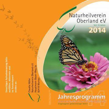 Jahresprogramm 2014 des Naturheilvereins