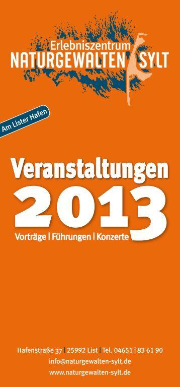 können Sie unseren Veranstaltungskalender 2013 als pdf-Datei