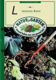 Lebendiger Boden - Natur im Garten