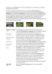 Programm/Information/Buchung - Natur im Garten