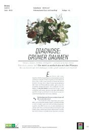 Diagnose: Grüner Daumen - 01. Mai; Biorama - Natur im Garten