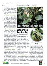 13. September; Der fortschrittliche Landwirt - Natur im Garten