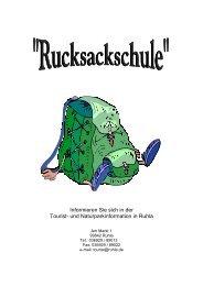 Rucksackschule - Naturpark Thüringer Wald