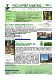 naturparkbote thüringer wald 11+12/2013 - Naturpark Thüringer Wald