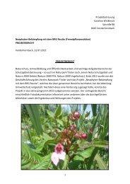 Projektbericht - Naturpark Tiroler Lech