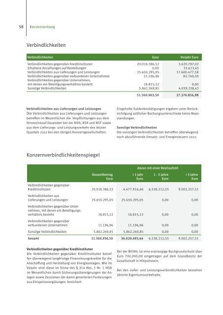 Geschäftsbericht 2012 - Naturstrom