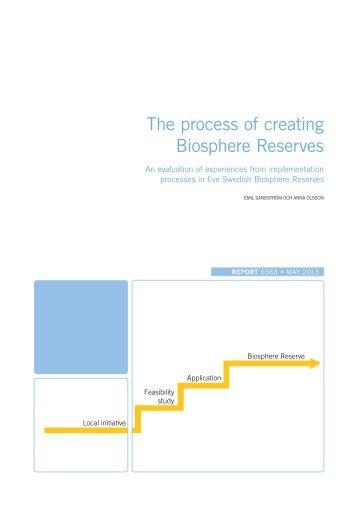 The process of creating Biosphere Reserves- An ... - Naturvårdsverket