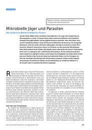 Mikrobielle Jäger und Parasiten - Naturwissenschaftliche Rundschau
