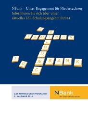 Das Fortbildungsprogramm 01/2014 - bei der NBank