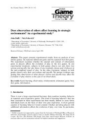 Does observation of others affect learning in strategic environments ...