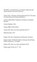PDF (47 K) - National Bureau of Economic Research