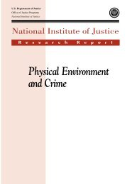 Physical Environment and Crime - National Criminal Justice ...