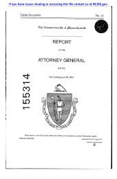 report attorney general - National Criminal Justice Reference Service