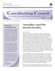 Juveniles and the Death Penalty - National Criminal Justice ...