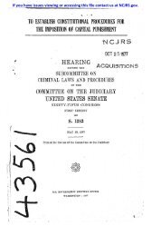 to establish constitutional procedures for the imposition of capital ...