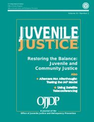 Restoring the Balance: Juvenile and Community Justice - National ...