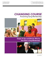 Changing Course. Preventing Gang Membership. - National ...