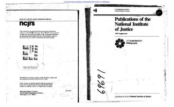 II - National Criminal Justice Reference Service