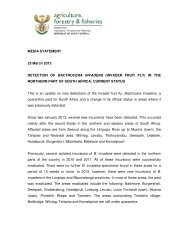 Media release on the Invader Fruit Fly - Department of Agriculture ...