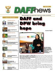 DAFF - Department of Agriculture, Forestry and Fisheries