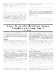 Bizarre & Fantastic Elements: A Forensic Interviewer's Response ...
