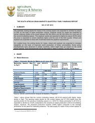 Grain Market Early Warning Report NO. 01 of 2013 - Department of ...