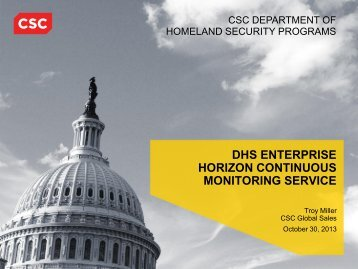 dhs enterprise horizon continuous monitoring service