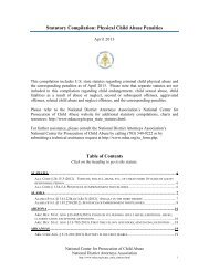 Physical Child Abuse Penalties - National District Attorneys ...