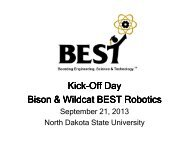 2013 Bison BEST Kickoff_morning slides