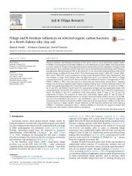 Tillage and N-fertilizer influences on selected organic carbon ...