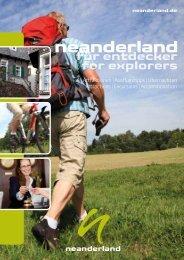 neanderland Reisekatalog FÜR ENTDECKER/FOR EXPLORERS
