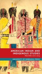 american indian and indigenous studies - University of Nebraska ...